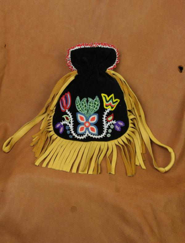 Floral Ojibwe Beaded Velvet Bag Northland Visions