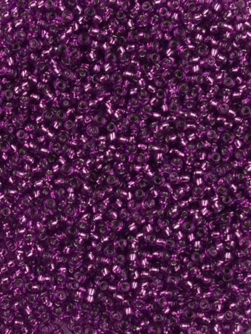 Japanese Seed Bead, Miyuki Round Rocailles 11-27, Transparent Red Purple Silver Lined, 11/0