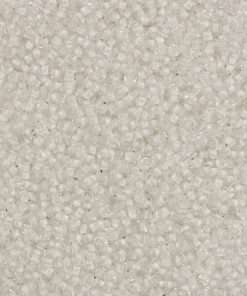 Japanese Seed Bead, 201, Transparent Crystal Color Lined White, 11/0 30 grams