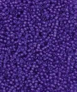 Japanese Seed Bead, 387B, Transparent Blue Color Lined Purple, 11/0 30 grams