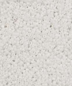 Japanese Seed Bead, 402, Opaque Chalk White, 11/0 30 grams
