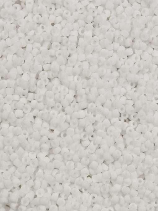 Japanese Seed Bead, Matsuno 11-F402A, Opaque White Matte, 11/0