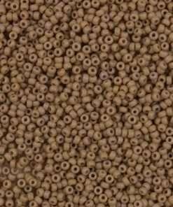 Japanese Seed Bead, Miyuki 11-F403E, Opaque Tan Matte, 11/0