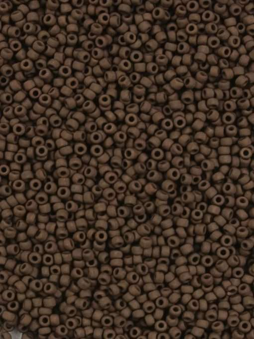 Japanese Seed Bead, Matsuno 11-F457B,Opaque Dark Brown Matte, 11/0 30 grams