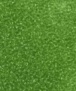 Japanese Seed Bead, Matsuno 11-145, Transparent Leaf Green, 11/0 30 grams