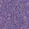 Japanese Seed Bead, Matsuno 11-356, Transparent Purple AB, 11/0 30 grams