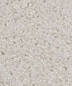 Japanese Seed Bead, 420, Opaque White Luster, 11/0 30 grams