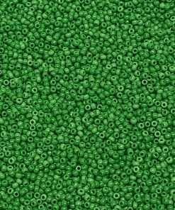 Japanese Seed Bead, Matsuno 11-411, Opaque Green, 11/0 30 grams