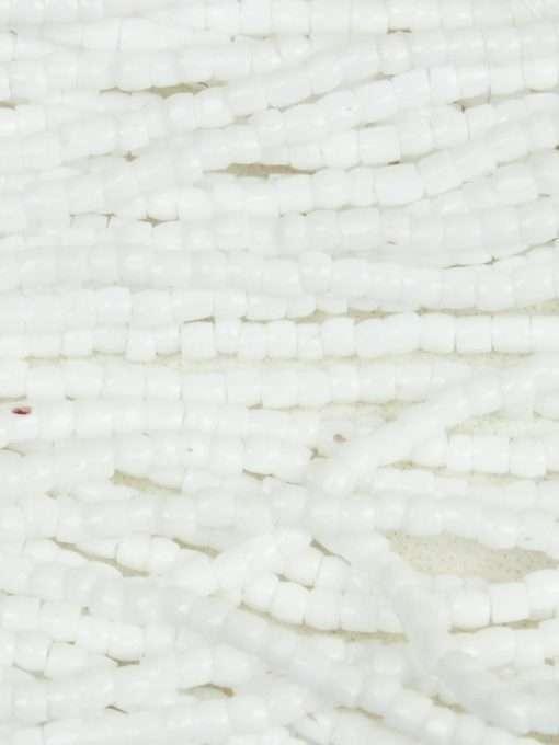 Czech 3-Cut Seed Bead, Preciosa® Ornela 03050, Opaque White, 9/0 1 Hank