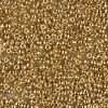 Japanese Seed Beads, Miyuki 11-191/11-465, Opaque Bright 24Kt Gold Plated, 11/0 20 grams
