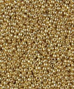 Japanese Seed Bead, TR-11-PF557, TOHO PermaFinish Opaque Galvanized Starlight Gold, 11/0 30 grams