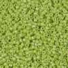 Japanese Seed Bead, Opaque Chartreuse Luster, 11/0 30 grams