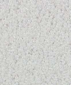 Japanese Seed Bead, 420A, Opaque White Luster AB, 15/0 14 grams