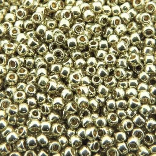 Japanese Seed Bead, TR-11-PF558, TOHO PermaFinish Opaque Galvanized Aluminum Silver, 11/0 30 grams