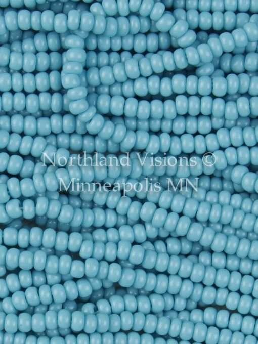 Czech Seed Bead, Opaque Turquoise Blue 11/0 1 Hank