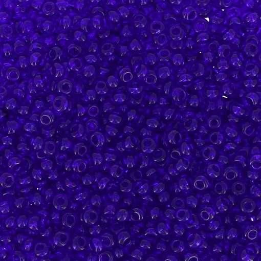 Czech Seed Beads, Transparent Cobalt Blue, Loose, 11/0 30 grams