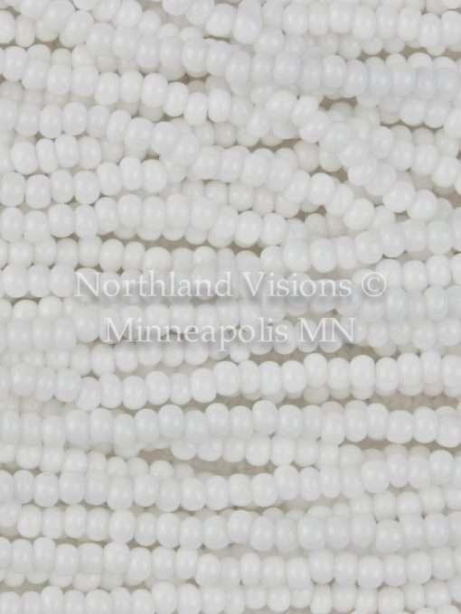 Czech Preciosa 03050 Seed Beads, 11/0 Opaque Chalk White, 1 Hank