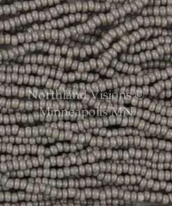 Czech Charlotte Cut 13/0 Seed Bead, Opaque Grey, 1 Hank