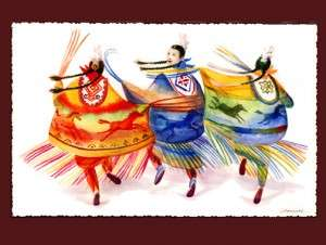 Handpainted-Five-Horses Shawls-dancers-daniel-ramirez-2
