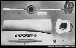 Example of were the traded bone hair pipe originated. Plate 30