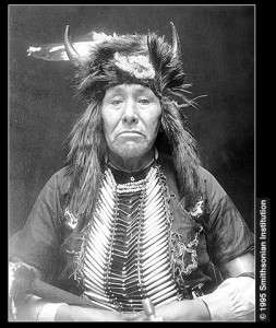 Hair pipes worn in breastplates. Ojibwa (1911). Plate 31b