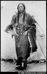 Famous wearers of hair-pipe breastplates. Quannah Parker, Comanche. Plate 32a