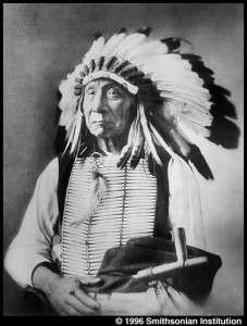 Famous wearers of hair-pipe breastplates. Red Cloud, Oglala. Plate 32c