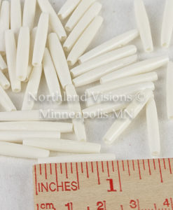 11846-2-Ruler-Thin-White-1in-Bone-Hair-Pipe-Harpipe
