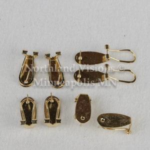 11996-Group2-Gold-Earring-Fingernail-finger-nail-post-6pair