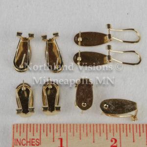 11996-Group2-ruler-Gold-Earring-Fingernail-finger-nail-post-6pair