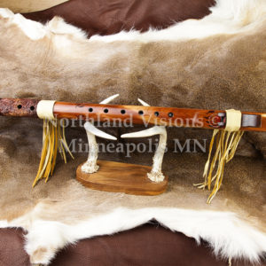7554-4-Bear-Carved-cedar-flute-F-Sharp