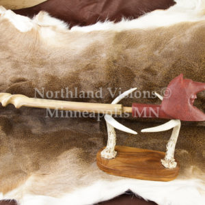 9155-2-Plains-Wolf-headdress-pipestone-pipe-Catlinite-ceremonial-peacepipe-peace