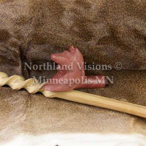9155-3-Plains-Wolf-headdress-pipestone-pipe-Catlinite-ceremonial-peacepipe-peace