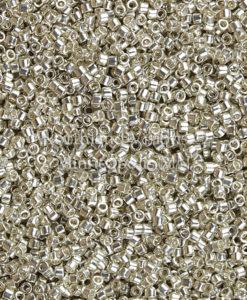 Miyuki Delica Cylinder Beads, DB0035, Galvanized Silver, 11/0 7 grams