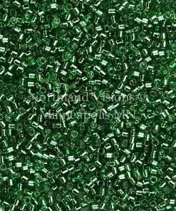 Miyuki Delica Cylinder/Seed Bead, DB0046/DB046 DB46, Transparent Light Green Silver Lined, 11/0 7 grams