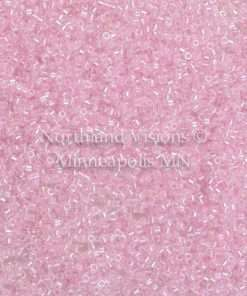 Miyuki Delica Cylinder Bead, DB0055, Transparent Color Lined Medium Pink AB, 11/0 7 grams
