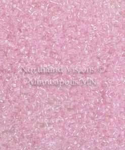 Miyuki Delica Cylinder/Seed Bead, DB0055/DB055 DB55, Transparent Color Lined Medium Pink AB, 11/0 7 grams