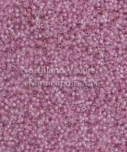 Miyuki Delica Cylinder/Seed Bead, DB0072/DB072 DB72, Transparent Color Lined Pale Lilac AB, 11/0 7 grams