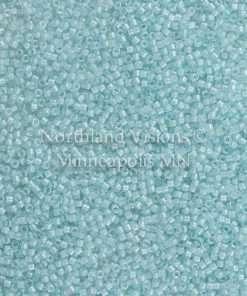 Miyuki Delica Cylinder/Seed Bead, DB0078/DB078 DB78, Transparent Color Lined Light Aqua Luster, 11/0 7 grams