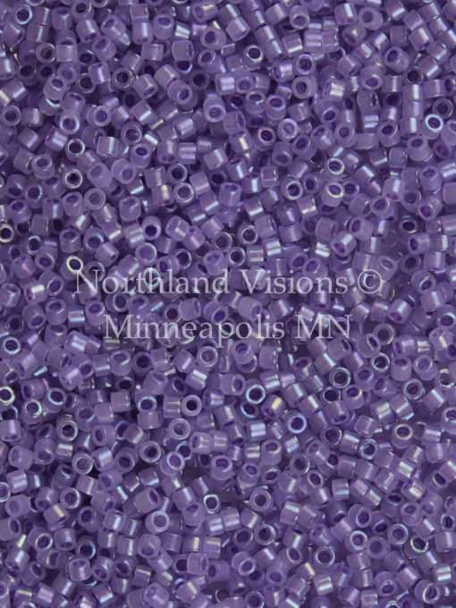 Miyuki Delica Cylinder Bead, DB1753, Transparent Purple Color Lined Opal AB, 11/0 7 grams