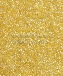 Miyuki Delica Cylinder/Seed Bead, DB0233/DB233, Ceylon Color Lined Yellow, 11/0 7 grams