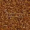 Miyuki Delica Cylinder Bead, DB0272, Transparent Goldenrod Color Lined Topaz AB, 11/0 7 grams