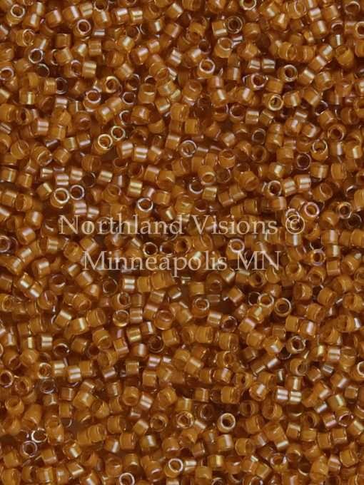 Miyuki Delica Cylinder/Seed Bead, DB0272/DB272, Transparent Goldenrod Color Lined Topaz AB, 11/0 7 grams