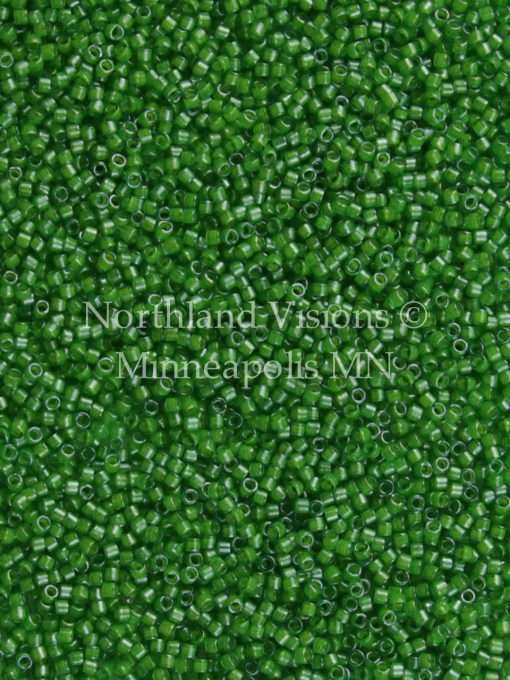 Miyuki Delica Cylinder Bead, DB0274, Transparent Green, Color Lined Lime, 11/0 7 grams