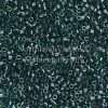 Miyuki Delica Cylinder Bead, DB0275, Transparent Green, Color Lined Teal, 11/0 7 grams