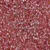 Miyuki Delica Cylinder Bead, DB0283, Transparent Amber, Color Lined Cranberry, 11/0 7 grams