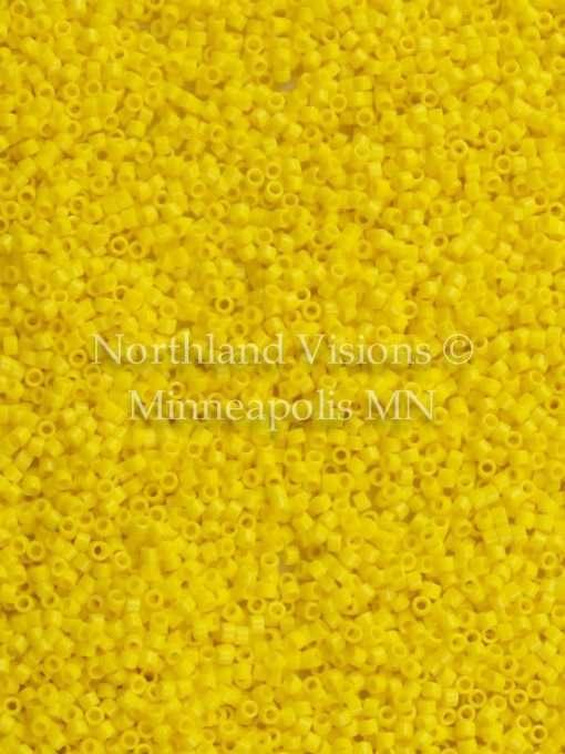 Miyuki Delica Cylinder Bead, DB1132, Opaque Canary Yellow, 11/0 7 grams