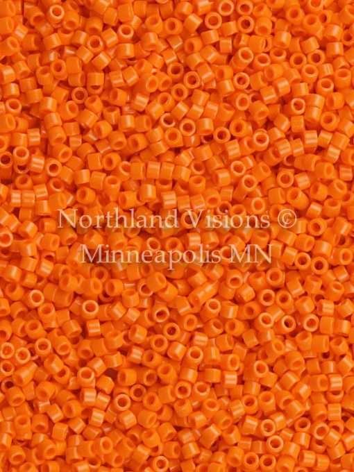Miyuki Delica Cylinder Bead, DB1133, Opaque Mandarin Orange, 11/0 7 grams