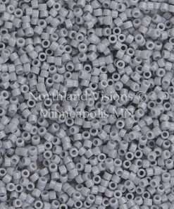 Miyuki Delica Cylinder Bead, DB1139, Opaque Ghost Grey, 11/0 7 grams