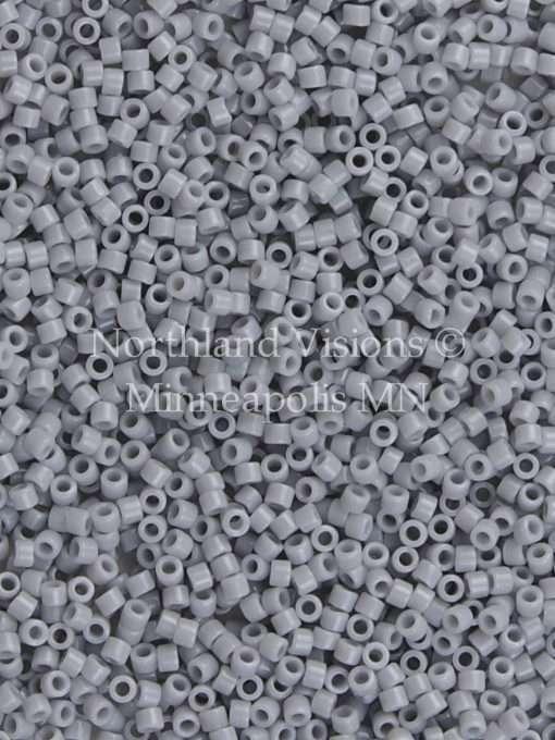 Miyuki Delica Cylinder/Seed Bead, DB1139, Opaque Ghost Grey, 11/0 7 grams